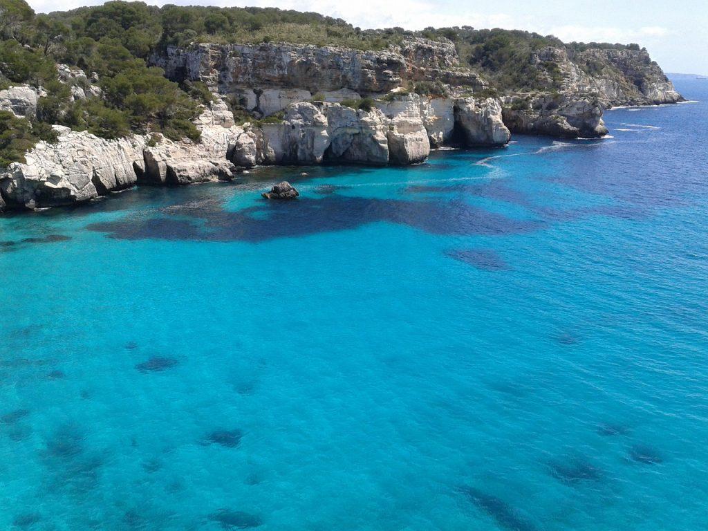 Mer turquoise de Minorque