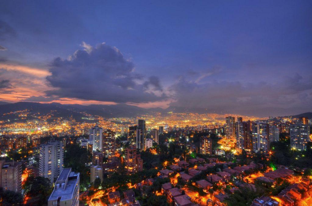La ville de Medelin en Colombie