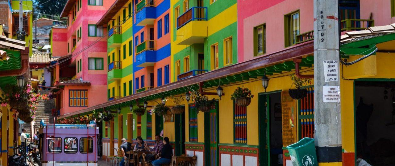 Les rues colorées de Colombie